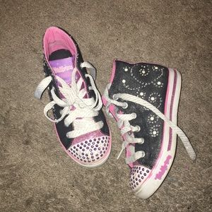 Skechers Girls Twinkle Toes Sparkle Pearl High Top